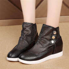 BESSKY Hollow Breathable Boots casual Wild Within The Increase Women Shoes_