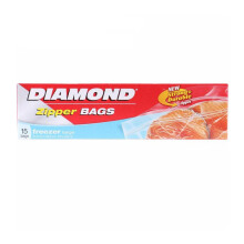DIAMOND Zipper Freezer Bags Large 15bags