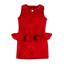 KIDDIEWEAR Dress Jacquard Red 1RN7407