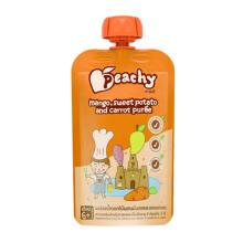 PEACHY Puree Mango, Sweet Potato & Carrot Pouch - 110gr