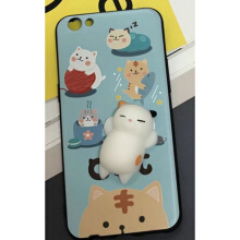 iPhone 6+ / 6s+ 5.5inch Cute 3D Cartoon Doll Cat Soft TPU Cover Case