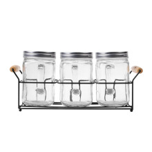 NAKAMI Glass Canister 800ML 3pcs Set NK-GC03800-ST
