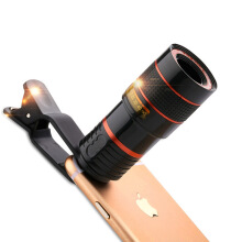 Keymao Universal 8X  HD Optical mobile Lens Digital Zoom With Clip for iphone6 for OPPO for xiaomi Black