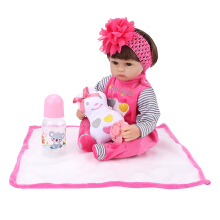 Soft Silicone Baby Toy For Girl Newborn Doll 45CM Red