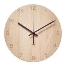 NAIL YOUR ART Black Maple Number Wall Clock Unik Artistik/30x30Cm