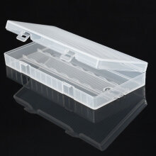 [Kingstore]Transparent Battery Case Holder Plastic Storage Box For 8PCS 18650 Battery