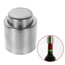 JDWonderfulHouse JDwonderfulhouse New Silver Elegant Stainless Steel Vacuum Sealed Sealer Wine Bottle Stopper - Silver