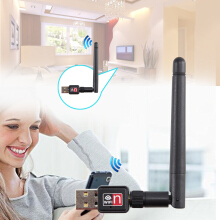 Mini USB 150M 150Mbps Wireless LAN Adapter 802.11b/n/g WiFi w/ 2dBi Antenna