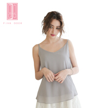 Pink Door Grey Basic Top Grey All Size