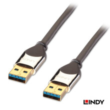 LINDY Cromo USB 3.0 Type A to A 2m - Black
