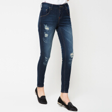 PEOPLE'S DENIM Ladies Melly Ripped - Blue