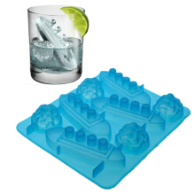 JDWonderfulHouse JDwonderfulhouse Novelty Titanic Silicone Ice Cube Bar Maker Shape Jelly Drinks Soap Tray Mold - Light Blue