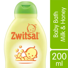 ZWITSAL Baby Bath Natural dengan Milk & Honey 200ml