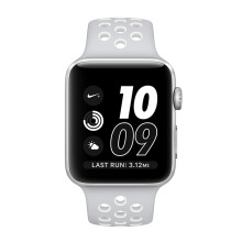APPLE Watch Series 2 Nike+ 42mm Silver Aluminum Case with Pure Platinum/White Nike Sport Band