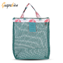 Guapabien Flowers Patterns Mesh Travel Women Handbag