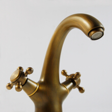 LANGFAN J4805 Brass Bathroom Kitchen Toilet Sink Deck Mounted Faucet