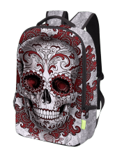 Skull Canvas Zips Backpack