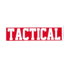 Tactical Series Velcro Patch 2.5 x 9 cm - TACTICAL - Red White