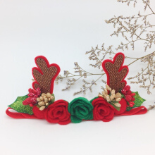 Michiko  Headband Christmas Edition Reindeer Fluer