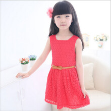 BESSKY 2015 Hot Summer Lace Vest Girl Dress Baby Princess Dress Kids Costume_