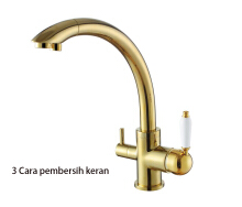 LANGFAN J2382(GOLD) Two Handles Kitchen Sink Purified Water Faucet