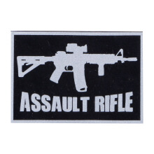Tactical Series Velcro Patch 5 x 7.25 cm - ASSAULT RIFLE - Black Silver