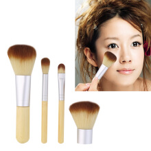 [Kingstore]4pcs Pro Makeup Cosmetic Blush Brush Foundation Powder Kabuki Brushes Kit Set