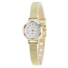 BESSKY Women Ladies Stainless Steel Mesh Band Wrist Watch -