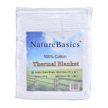 VALERIE Thermal Blanket Single - White/180x210Cm