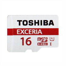 Toshiba Micro SD UHS-I 90MB/s 16GB Class 10 with Adapter Red