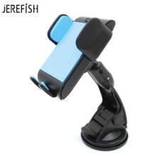 JEREFISH Windshield Car Phone Holder Universal Car Phone Mount for Dashboard suitable for iPhone X 8 8Plus 7 6 Smartphones Blue