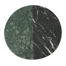 GLERRY HOME DÉCOR Round Emerald - Black Zircon Marble - 20Cm