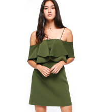 LOVE, BONITO Theora Off Shoulder Dress - Green