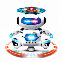 BESSKY Electronic Walking Dancing Smart Space Robot Astronaut Kids Music Light Toys - White