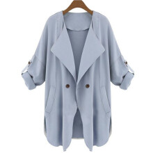 BESSKY Autumn Womens Long Sleeve Cardigan Top Coat Jacket_
