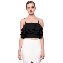LOOKBOUTIQUESTORE Madison Crop Top - Black