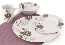 NAKAMI Dinner Set Full Bloom Rose MH 2087- 16 PCS