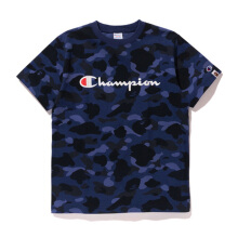 A BATHING APE X Champion Champion Color Camo - Navy