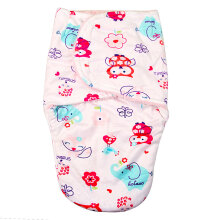 baby Short plush double little swaddle-pink owl