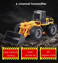 HUINA 1520 1:14 2.4GHz 6CH RC Alloy Truck Construction Vehicle