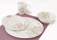 NAKAMI Dinner Set Happy Flower MH 2844- 16 PCS
