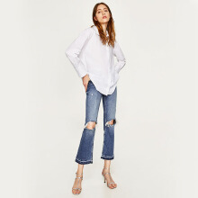 ZARA Multiposition Poplin Shirt - White