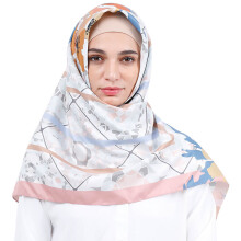 KAMILAA by ITANG YUNASZ Square Hijab - Pink Meets Orange