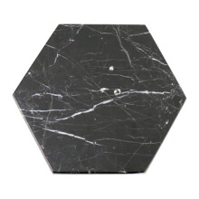 GLERRY HOME DÉCOR Hexagon Black Zircon Marble - 12Cm