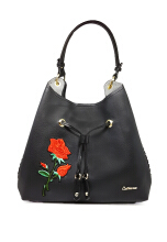 Catriona By Cocolyn Rosy shoulder bag - BLACK