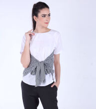 Rianty Basic Atasan Wanita Blouse Bella - White White All Size