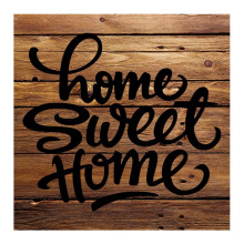 NAIL YOUR ART Home Sweet Home Wall Sign Gantungan Dinding/30x30Cm