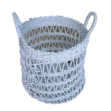 VIE FOR LIVING Seagrass Basket White Large
