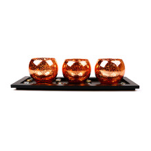 BLOOM & BLOSSOM Candle Holder Set CLW925 - Bronze