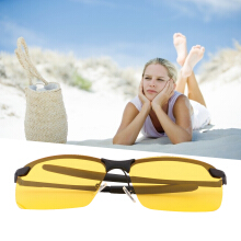 Yellow HD Night Vision Polarized Glasses UV400 Driving Sunglasses Eyewear
